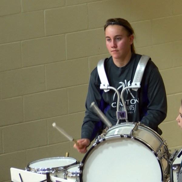 Joy Sandman on drums