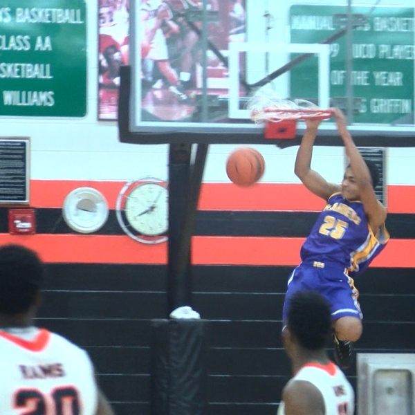 Bloomington freshman Chris Payton slam