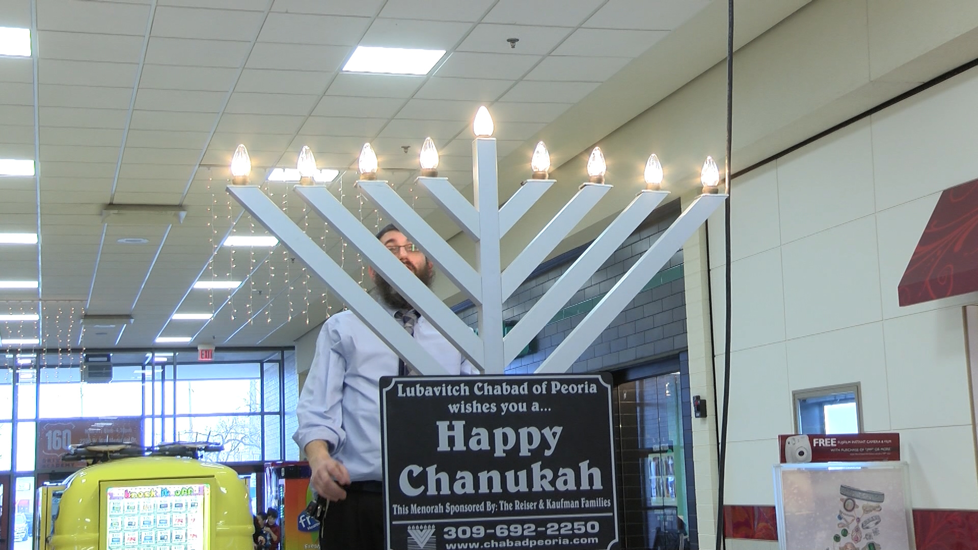 Menorah set up at Northwoods Mall