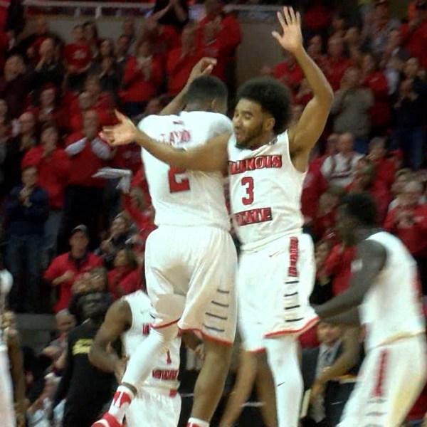 ISU celebrates win over Wichita