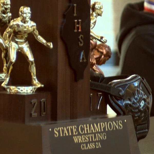 Washington Wrestling 2017 state trophy