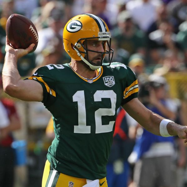 Packers Aaron Rodgers vs Vikings 2018