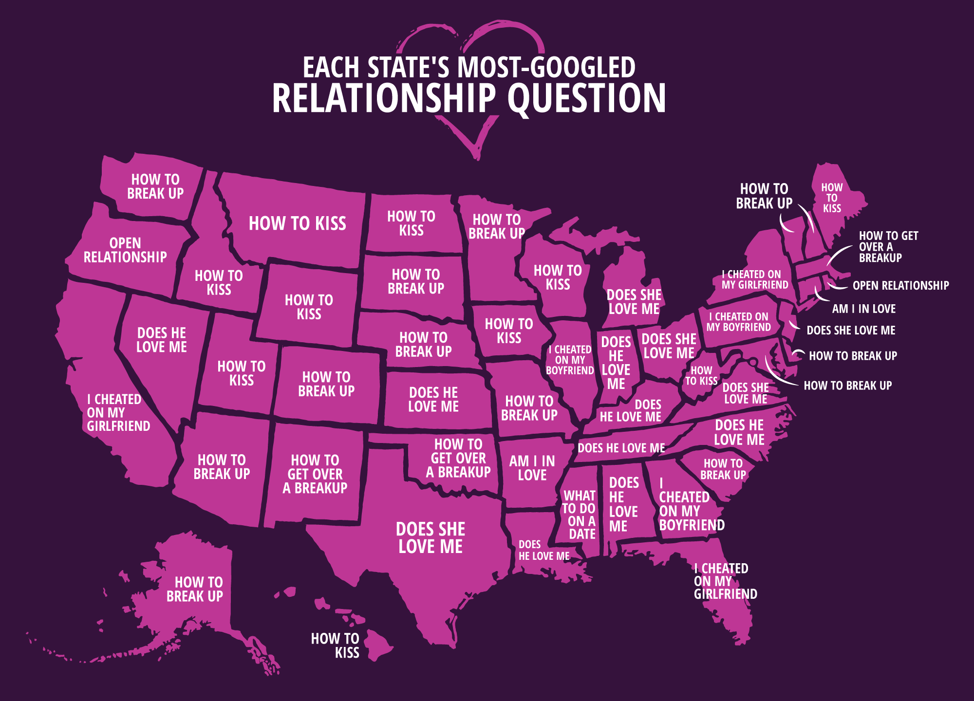 I cheated on my boyfriend' is Illinois' most-Googled relationship search