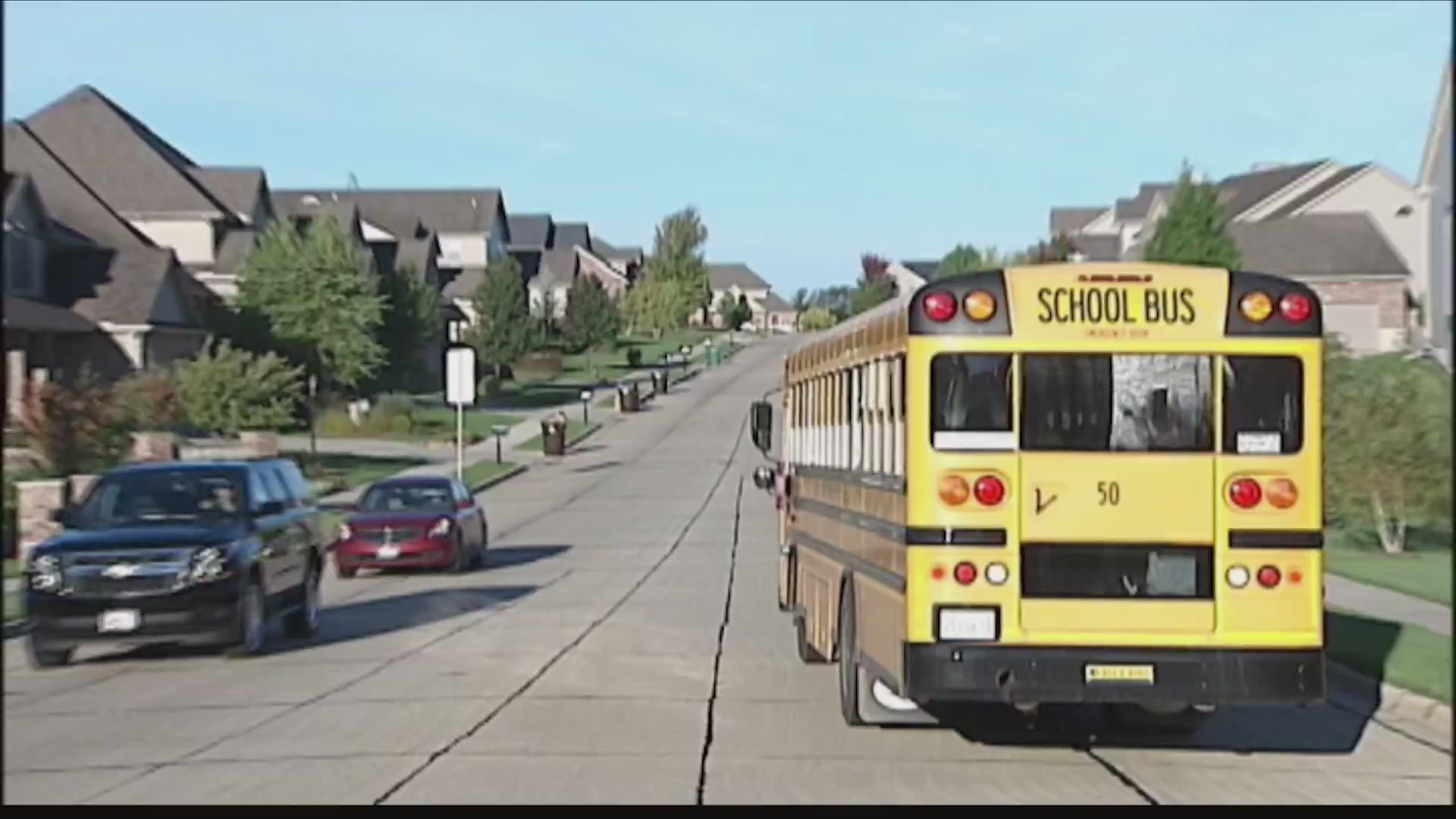 Drivers will be fined for failing to stop for school buses