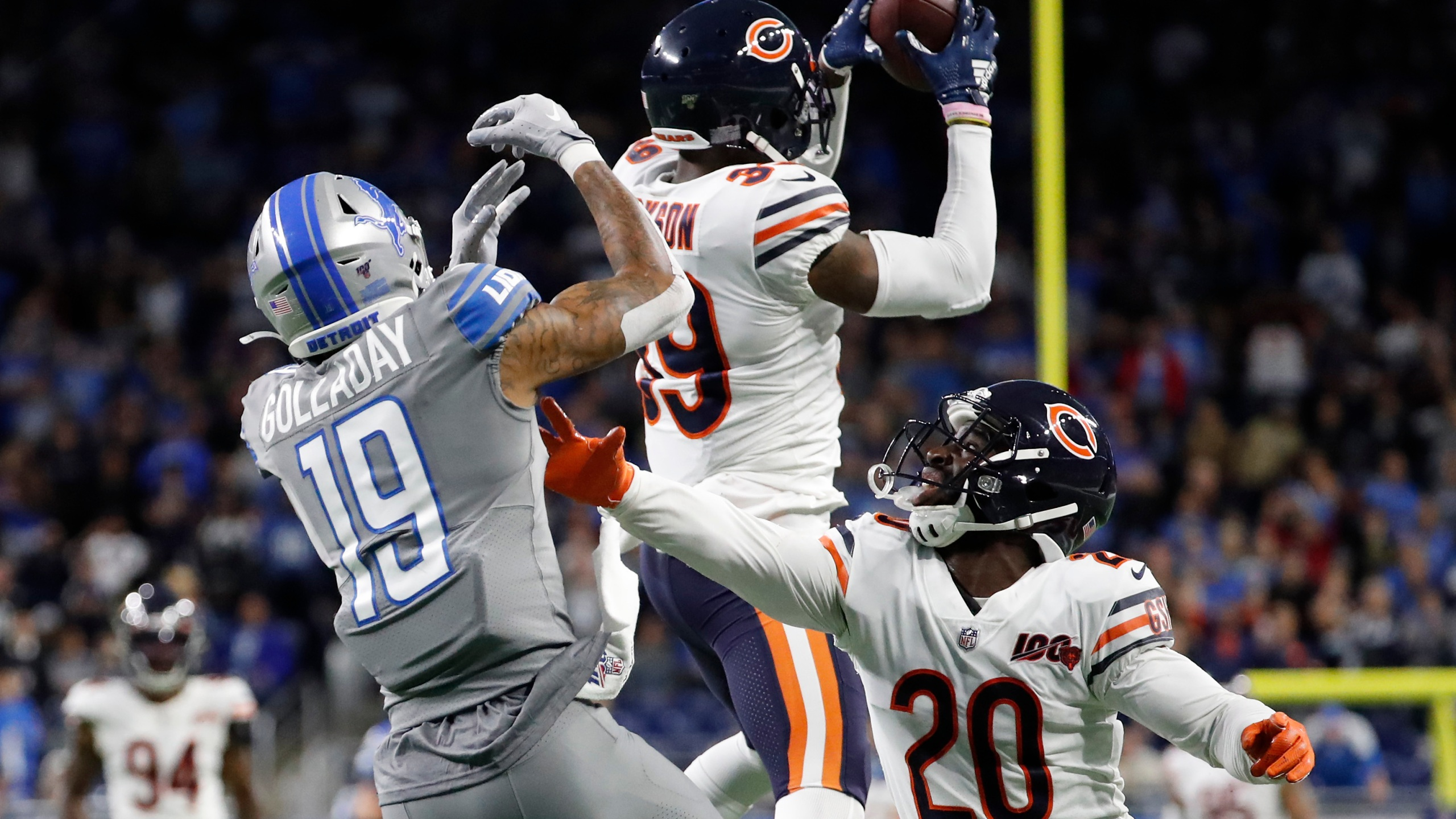 Trubisky S 3rd Td Pass Lifts Bears To 24 20 Win Over Lions