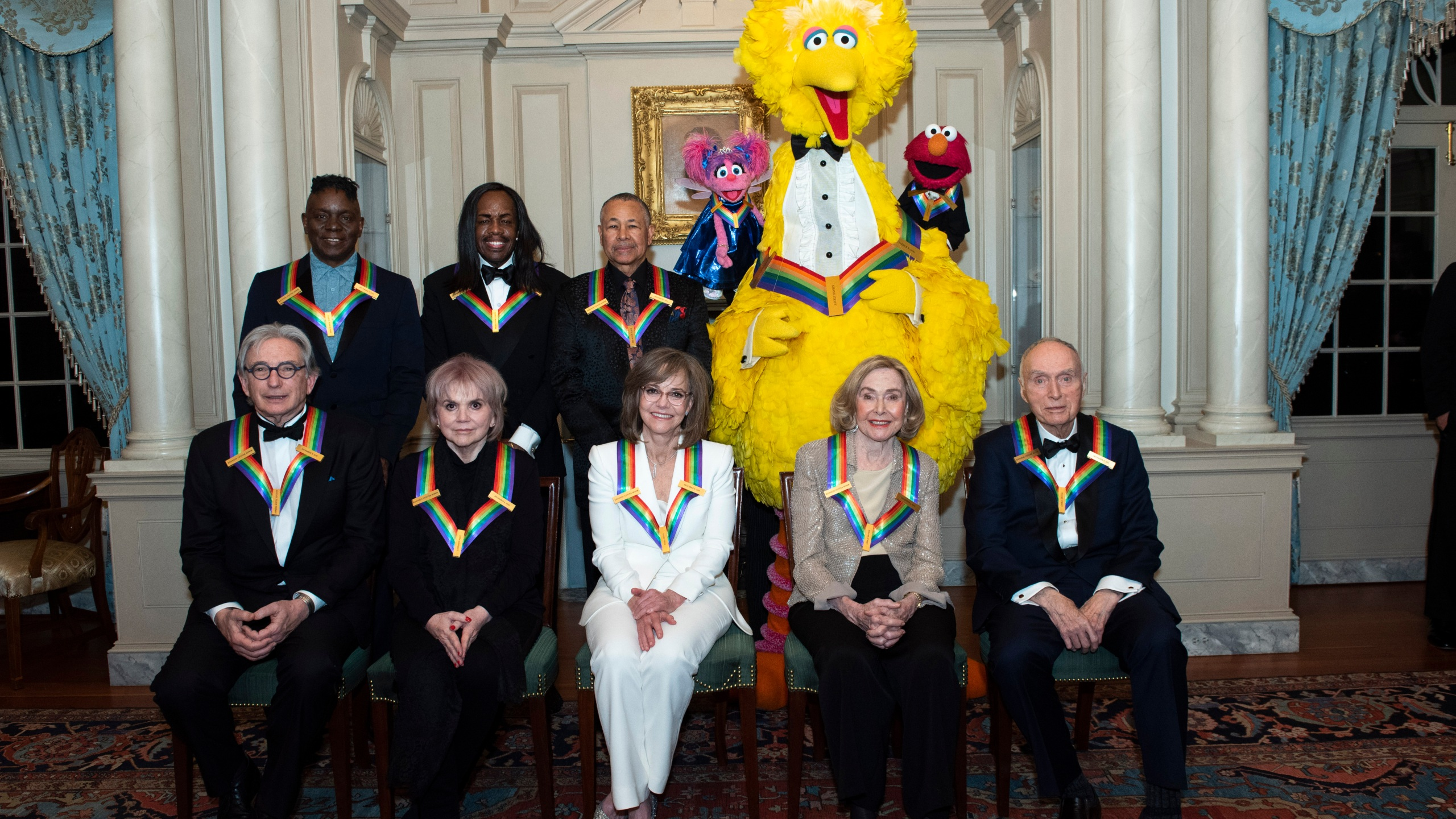 Michael Tilson Thomas, Linda Ronstadt, Sally Field, Joan Ganz Cooney, Lloyd Morrisett, Philip Bailey, Verdine White, Ralph Johnson