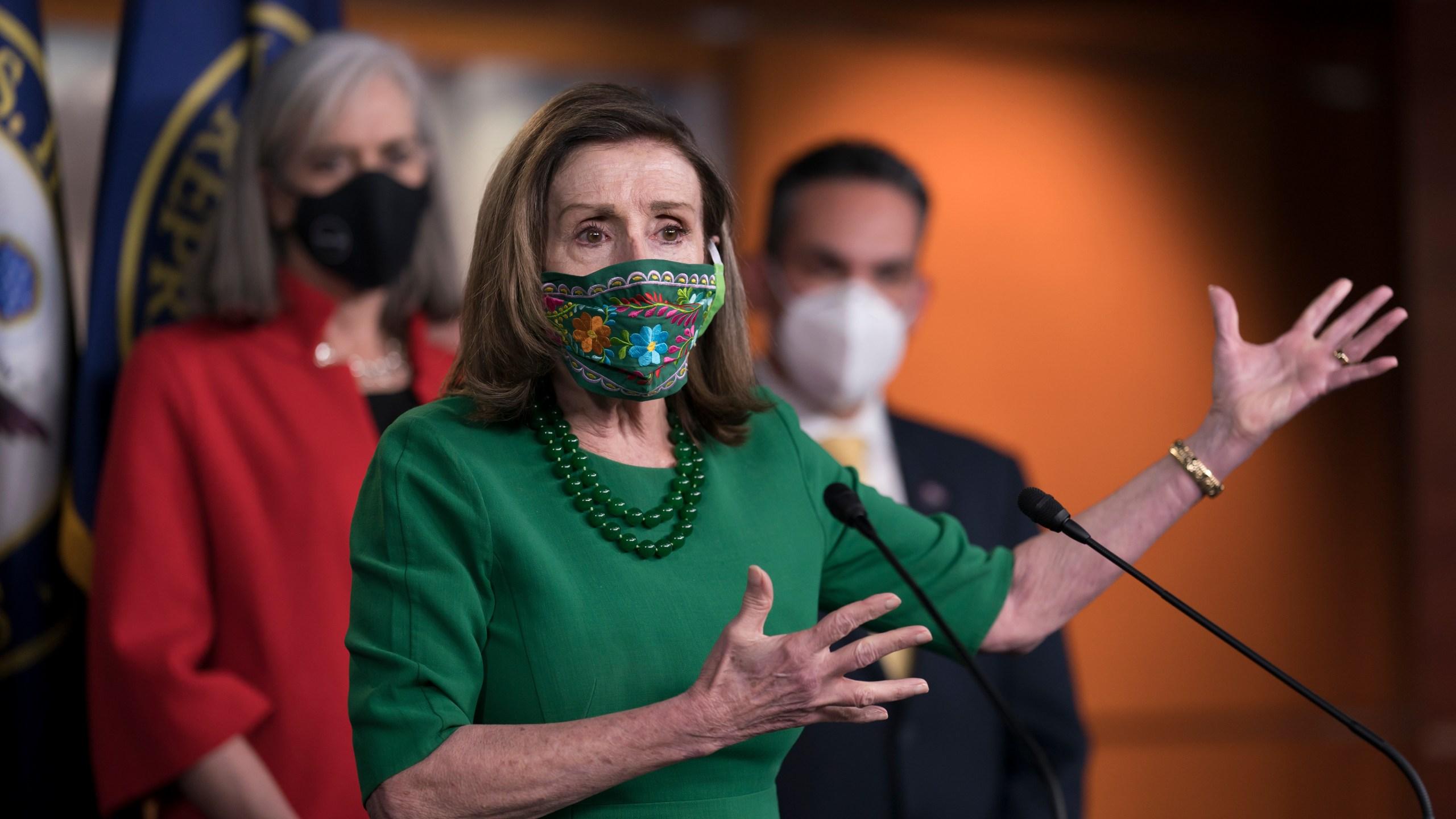 Nancy Pelosi, Katherine Clark, Pete Aguilar
